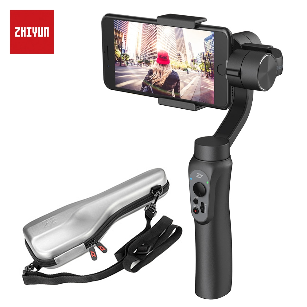 Promo ZHIYUN Smooth 4 3-Axis Smartphone Stabilizer for phone for iPhone 7 6s Plus S7 S6 & Gopro 3/4/5 Samsung S8 Handheld Gimbal