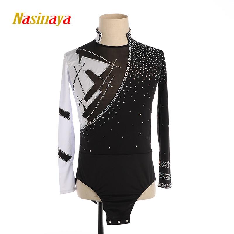 Nasinaya chicos hombre figura Ejecución de Patinaje ropa personalizada competición de hielo leotardo de Patinaje niños Patinaje gimnasia danza