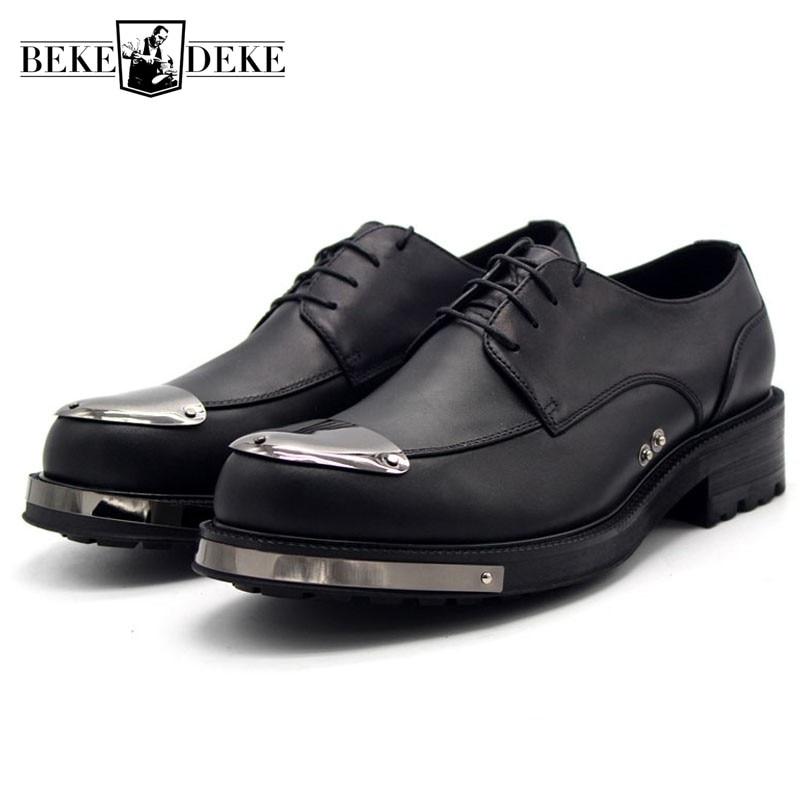 Кожаные туфли наивысшего качества; Мужские туфли на платформе, увеличивающие рост; Повседневные мужские туфли-Дерби ручной работы; Деловые офисные туфли; Размера плюс