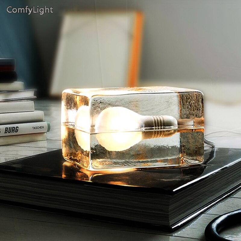 Auge-Pflege Led Tisch Lampe schlafzimmer LED glas Schreibtisch Lampe nacht licht nordic design Led luminaria Lesen Licht hause dekor Beleuchtung