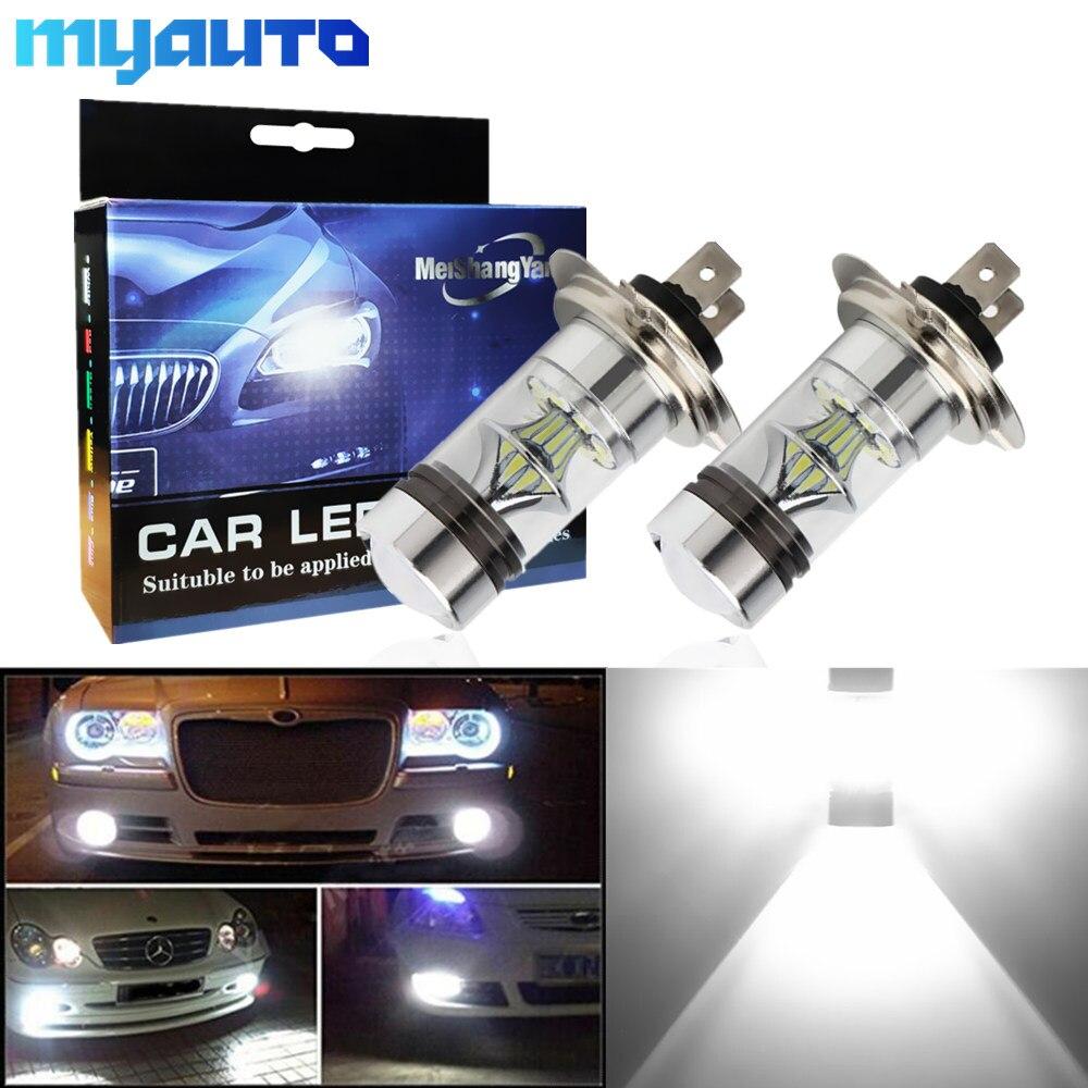 2 uds. Bombillas LED H7 12V ~ 24V 360 grados para luz antiniebla DE COCHE lámpara automática 6000K Estacionamiento de abastecimiento-no apto para faro 100W