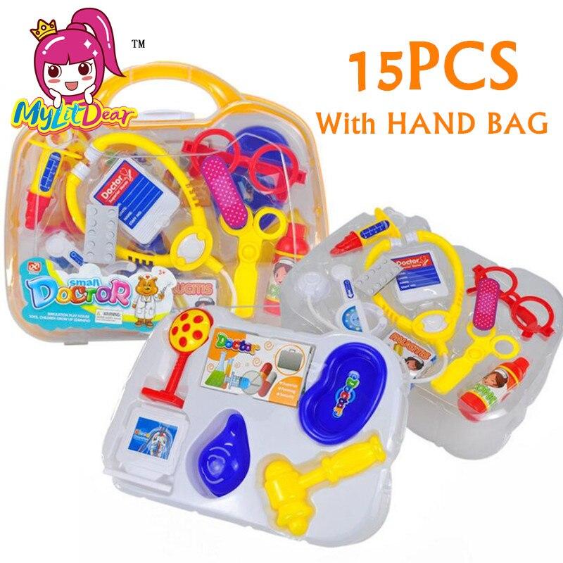 Caixa de Medicina Simulação Brinquedos Interessantes MylitDear Pretend Play Crianças Brincar de Médico Médico Brinquedo Brinquedos Educativos Em Caixa