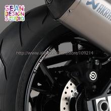 Per BMW Motorrad R1200R RS F700 F750 F800 F850GS R1200GS ADV S1000R RR XR moto motor bike Decalcomania Riflettente Rim sticker