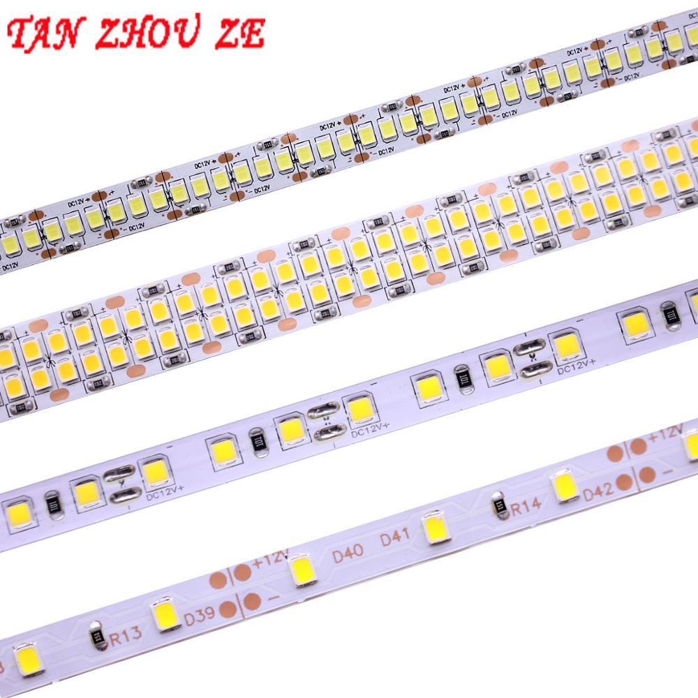 Tira de luces LED, Cinta Blanca neutra ww 5M 2835 SMD DC24V 12V 60/120/240/480 Leds/m PCB 8MM 10MM 15 MM, tira de luces LED 3528