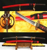 41'1060 CARBON STEEL BLADE FULL TANG RED JAPANESE SWORD KATANA CAN CUT TREE