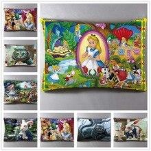 Anime Manga Alice In Wonderland 40*60cm Pillow Case Cover Seat Bedding Cushion