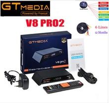 Gtmedia V8 pro2 H.265 DVB-S2 + T2 + DVB-C receptor de satélite integrado en WIFI PowerVu Biss para 1 año de Europa
