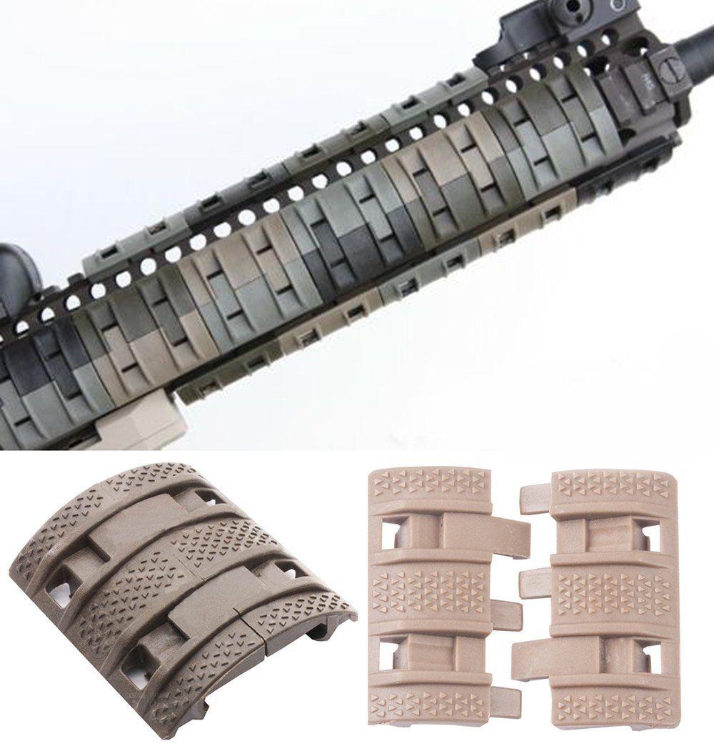 Novedad 32 uds, guardamanos, accesorios de pistola táctica Weaver Picatinny, Fundas protectoras de goma Quad Rail, pistola de caza, Protector de mano, Airsoft