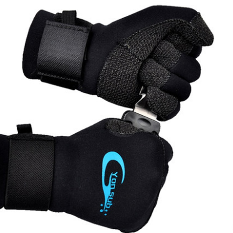 YONSUB Scuba 3MM Kevlar Diving Gloves For Underwater Hunting Non-slip Spearfishing Equipment Adjustable Velcro Diving Gloves