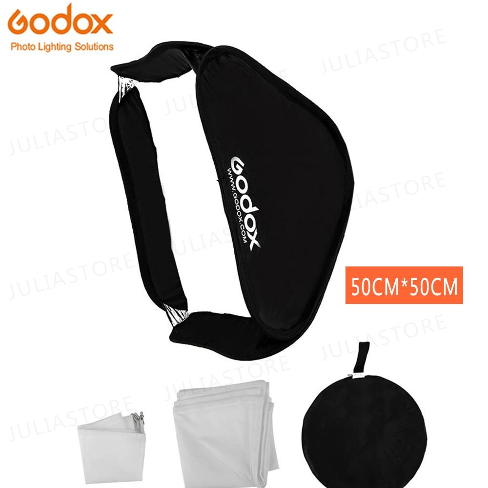 Softbox godox 50x50 cm difusor Reflector para Flash Speedlite luz profesional cámara de estudio fotográfico Flash ajuste Bowen Elinchrom
