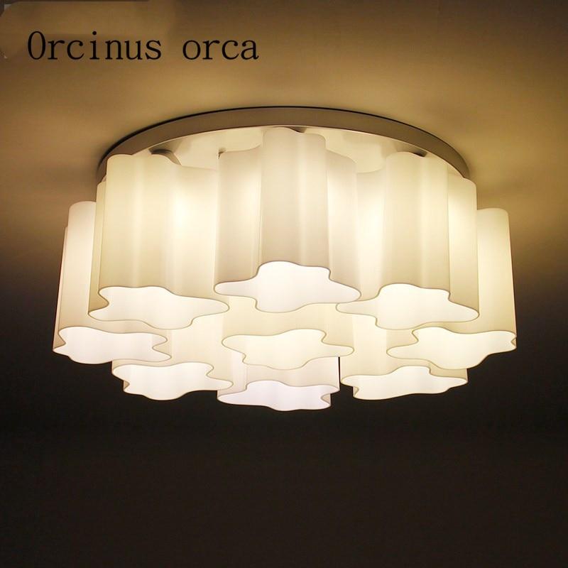Lámparas de techo nórdicas, románticas, minimalistas, modernas, creativas, redondas, para dormitorio, lámparas de habitación, envío gratis