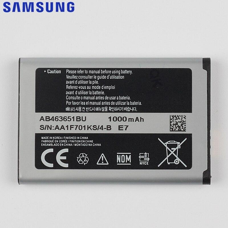 Original Samsung Battery For J800 S3650 L700 W559 S5628 C3222 S7070 S5608 S3370 B3410 F339 AB463651BC AB463651BE AB463651BU enlarge
