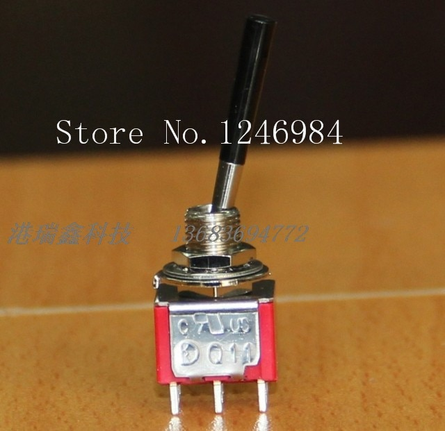 [SA]T8011 Dual seis pies dos tramos Deli Wei de Taiwán Yuan manija antiestática interruptor alternador conmutación Q11-20 unids/lote