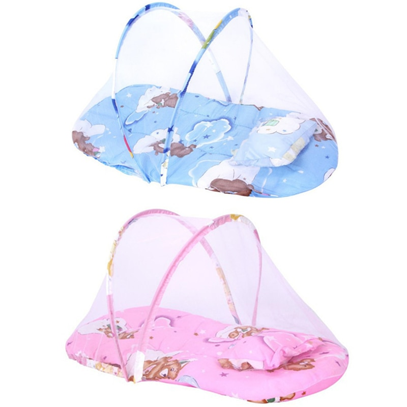 baby crib netting baby bed mosquito nets mattress pillow portable mosquito net tent crib sleeping cushion collapsible for kids Portable Baby Infants Bedding Crib Netting Mosquito Net Newborn Crib Cushion Mat Baby Sleeping Mattress with Pillow for 0-1Years