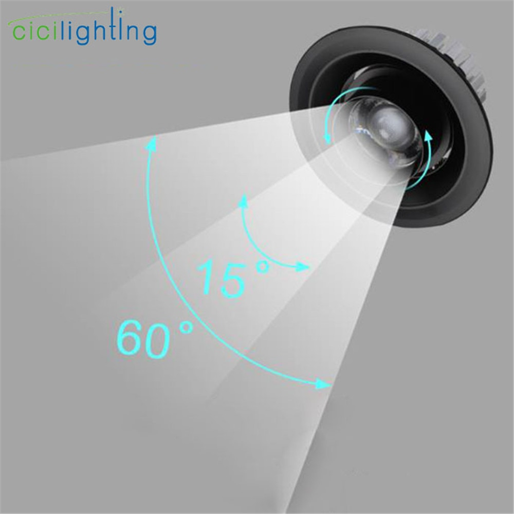 Foco led empotrable con Zoom moderno, iluminación Industrial, 3W, 5W, 7W, 10W,...