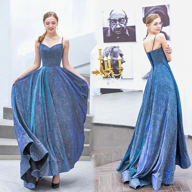 فستان زفاف أزرق مبهر ، توست لحفلات أعياد الميلاد
