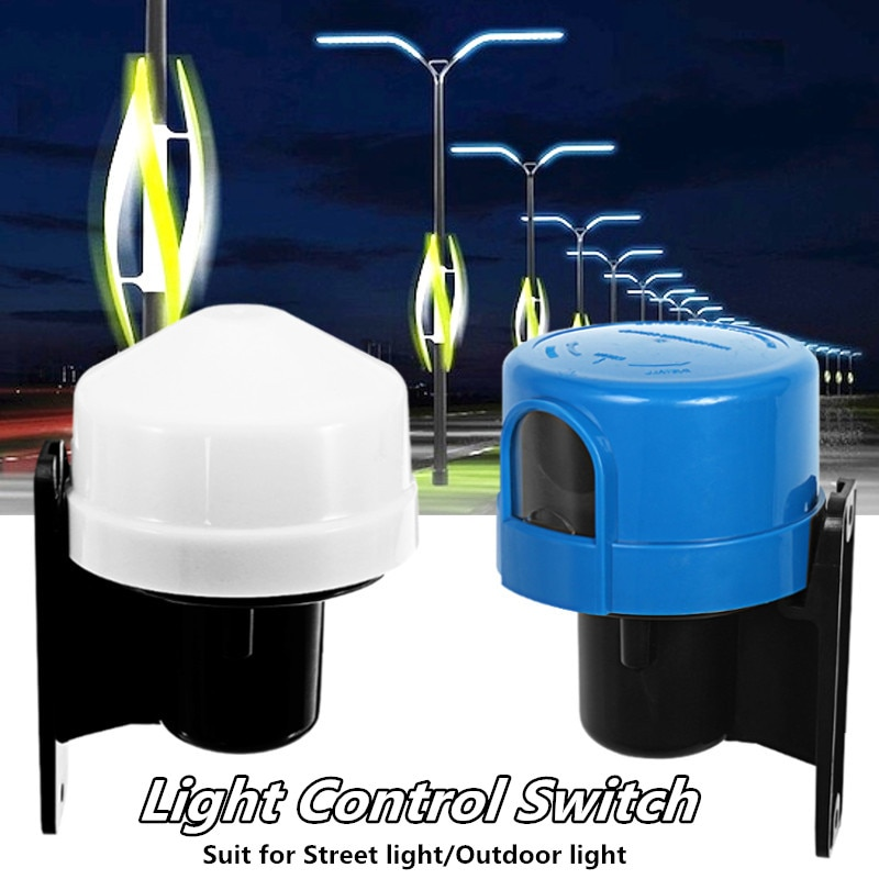 10А фотоэлемент наружный переключатель управления светом фотоэлектрический датчик лампа выключатель света уличный свет переключатель управления 220-240 В