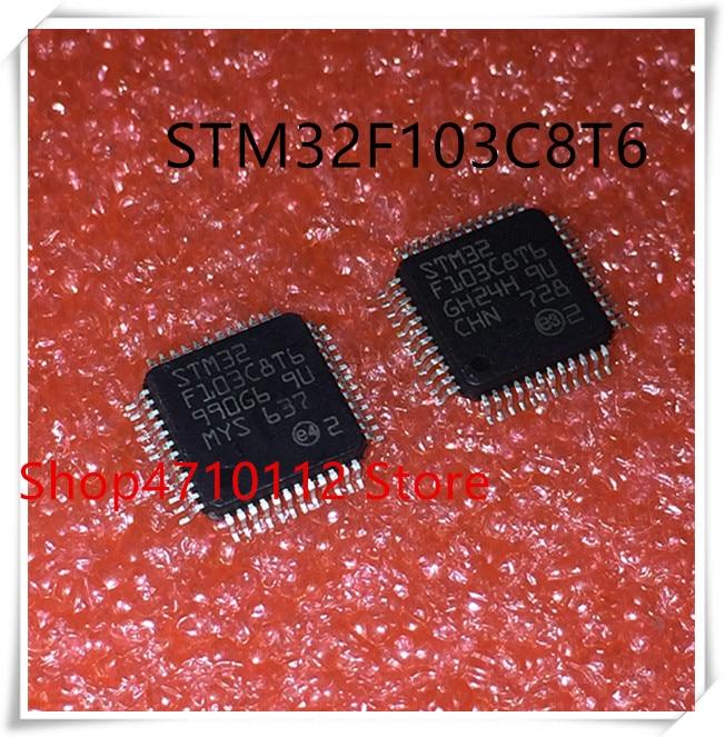 Nuevo 10 unids/lote STM32F103C8T6 STM32F103 STM32F 103C8T6 LQFP-48 IC