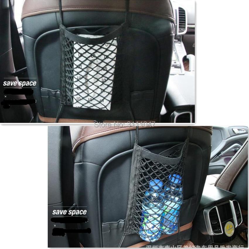 Car Organizer Seat Back Storage Net Bag Holder Pocket for mercedes w204 range rover sport audi a4 b6 astra j passat b6 ford