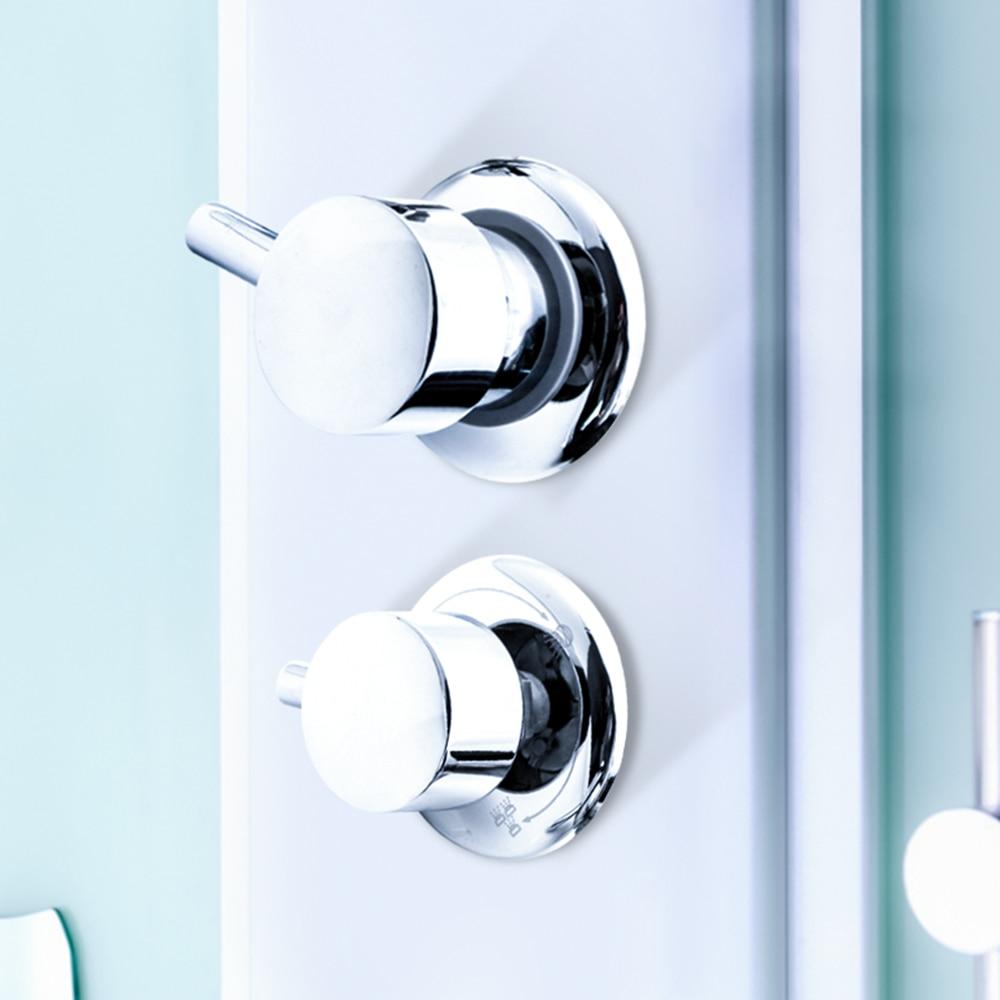 حنفية حمام نحاسية مع محول ، 2/3/4/5 فتحة إخراج 10 سنتيمتر/12.5 سنتيمتر ، خلاط كابينة الاستحمام