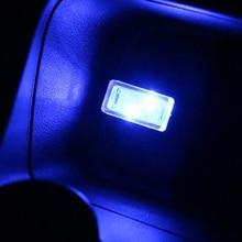 1 Uds coche-estilo de USB atmósfera luz LED accesorios del coche para el asiento Ibiza Leon Toledo Arosa Alhambra Exeo FR Supercopa Mii Altea