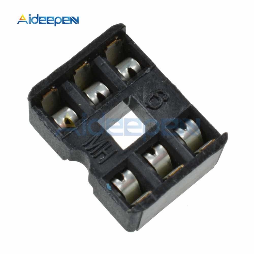 50 unids/lote 6 DIP IC conectores adaptador de tipo de soldadura Socket Kit 6Pin