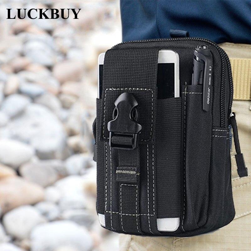 LUCKBUY Universal Outdoor Taktische Holster Military Molle Hüfte Taille Gürtel Tasche Brieftasche Tasche Geldbörse Telefon Fall mit Zipper für S8 LG