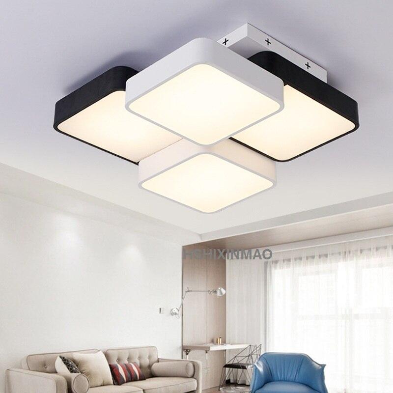 Lampe rectangulaire de plafond de salon, plafond de chambre à coucher Simple, étude acrylique moderne