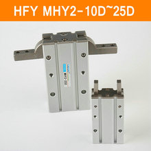 HFY MHY2 10D 16D 20D 25D Doppel Wirkenden Pneumatischen Greifer SMC Y Typ 180 Grad Winkel Stil Aluminium Schellen Bohrung 10-25mm