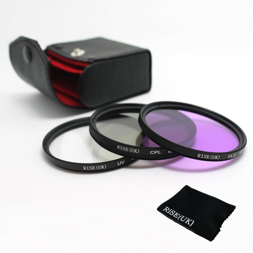 100% garantía 49MM KIT de filtro UV/CPL/FLD para CANON EOS 1000D 650D 600D 550D 500D 450D 7D 50D 5D rebelde T3i T2i T1I