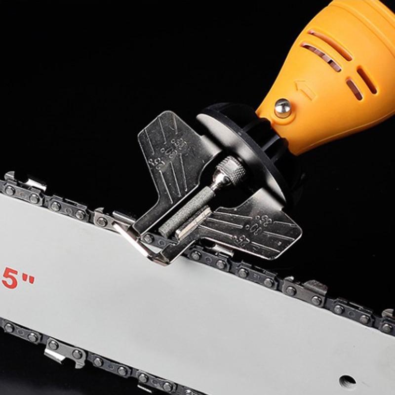 Kit per affilare motoseghe smerigliatrice elettrica set di accessori per lucidatura affilatura catene per seghe
