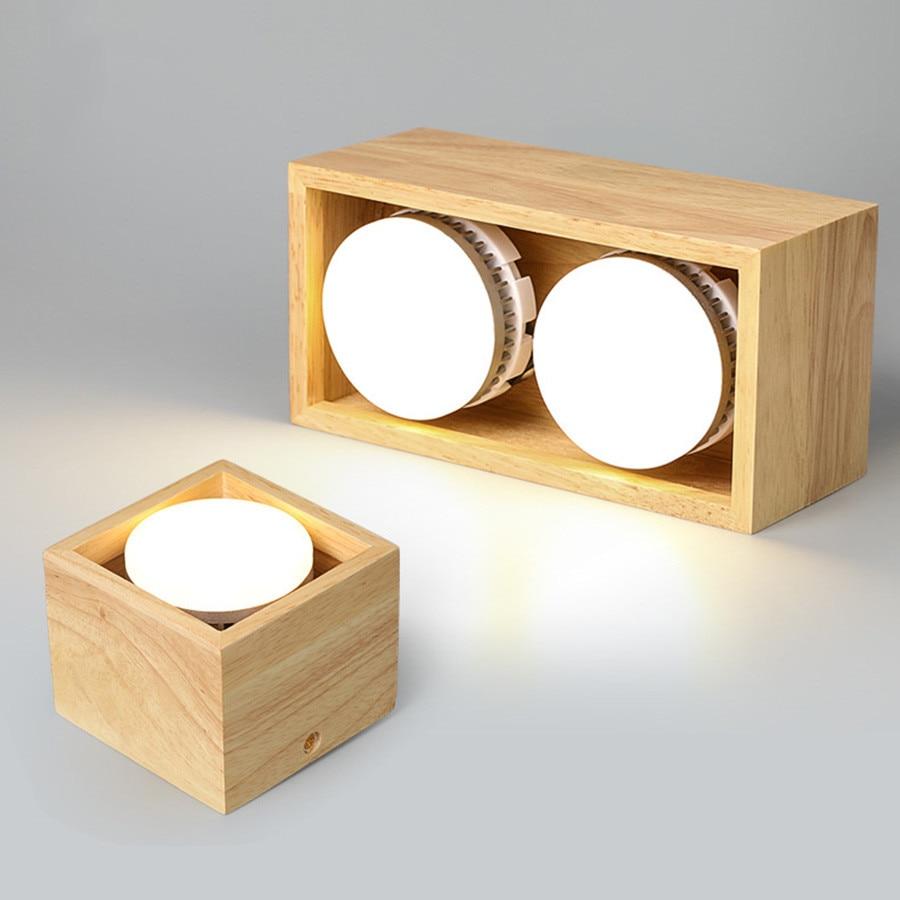 Thrisdar-مصباح سقف خشبي LED ، مصباح سقف نورديك ، إضاءة داخلية ، مثالي للمطبخ أو غرفة النوم أو الردهة ، 7/12W