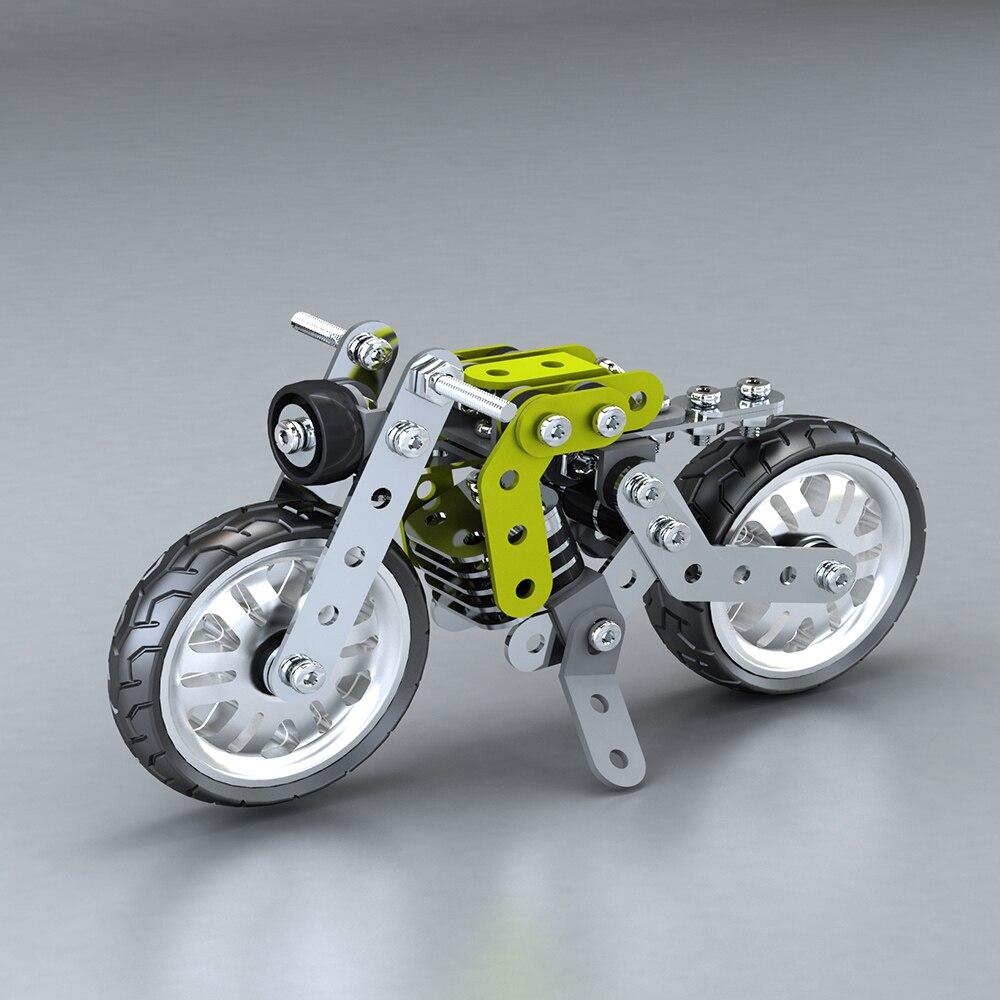 188Pcs Retro Motorbike Intelligent Construction Set toys for Boys 3D Stainless Steel Model Kit Model Building Educational Toys