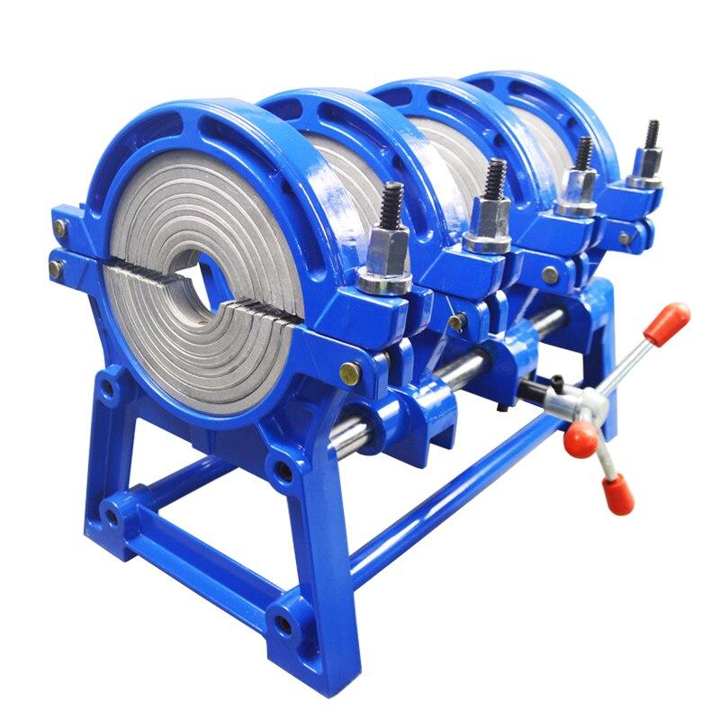 شحن مجاني 3 سنوات ضمان AC110V 4 خواتم 63-160 مللي متر الانصهار آلة لحام بعقب ل أنبوب بلاستيكي PE PP PB PVDF HDPE أنبوب بولي كلوريد الفينيل