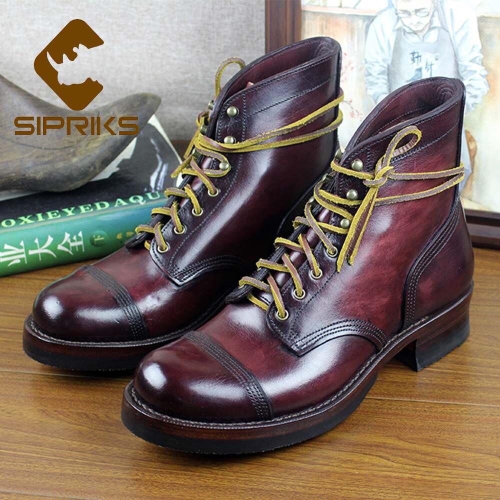 Sipriks-أحذية كاوبوي فاخرة ذات علامة تجارية للرجال ، أحذية بمقدمة مستديرة ، أحذية كاوبوي بتصميم إيطالي مخصص جوديير ، بدلات رسمية 45