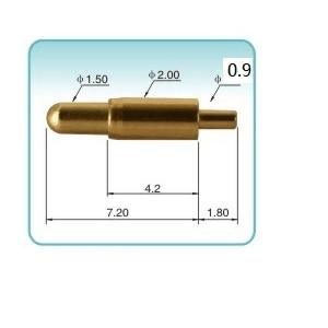 موصل دبوس بوجو ، زنبرك محمل ، قطر برميل 100 مللي متر من خلال ثقوب ، ارتفاع PCB 2.0 مللي متر ، عمودي ، 9.0 قطعة