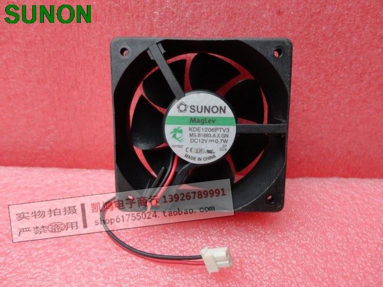 Original For Sunon KDE1206PTV3 DC 12V 0.7W 6025 6CM ultra-quiet chassis power supply fan 2-pin