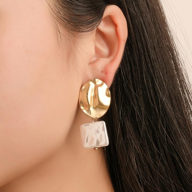 2019 New fashion fold round ear nail irregular Akin Pl pendant factory direct selling