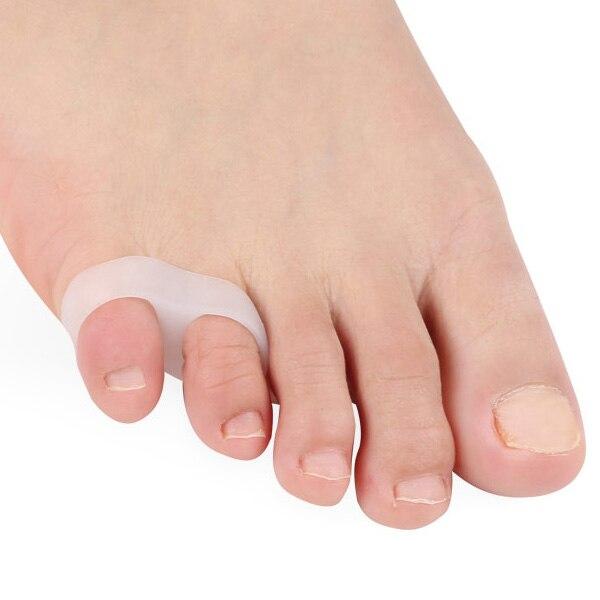 1 par de Gel de silicona dedo pequeño del pie pulgar enderezador separador doble bucle Corrector dedo del pie separador bien SN-Hot