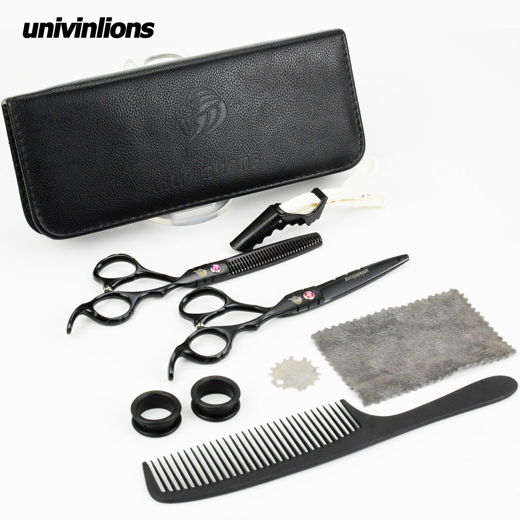 """Univinlions 6 """"japonês tesoura de cabelo barbeiro tesoura cabeleireiro navalha tesoura profissional corte cabelo fino tesouras"""