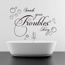 English quote Bubble Bath Soak Bathroom Wash Room Home Decor Wall Stickers Sofa Wall Creative Decoration mural art Sticker