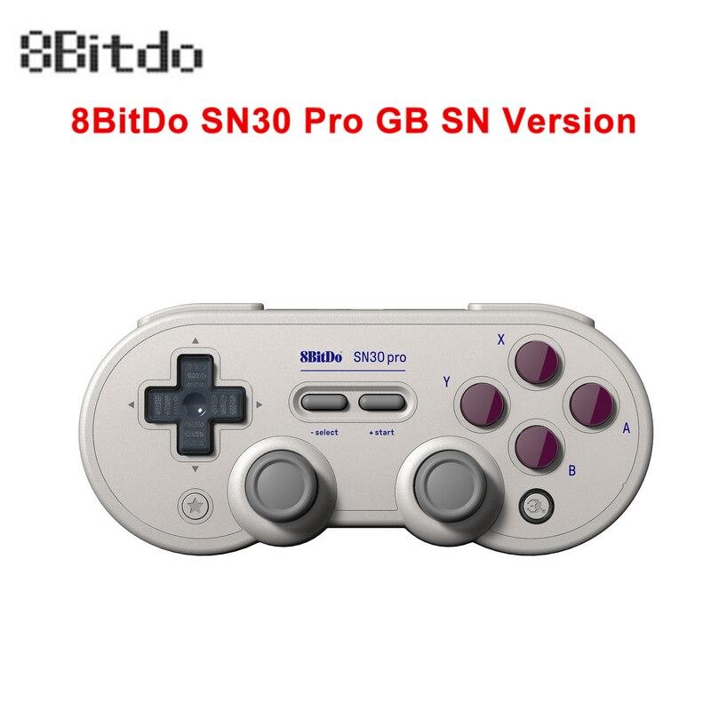 8Bitdo SN30 Pro G SN inalámbrico Bluetooth Gampad de vibración con controlador Joystick para Nintendo interruptor de Windows Android MacOS