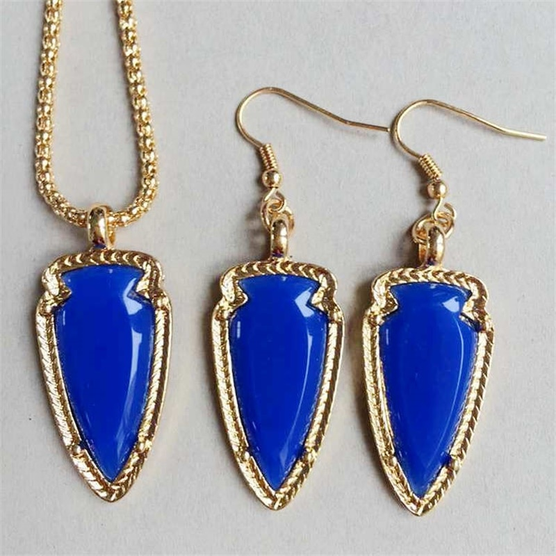 7 видов цветов ожерелье серьги набор ювелирных изделий конфетные акриловые цвета свитер ACC милые брендовые ювелирные изделия для женщин