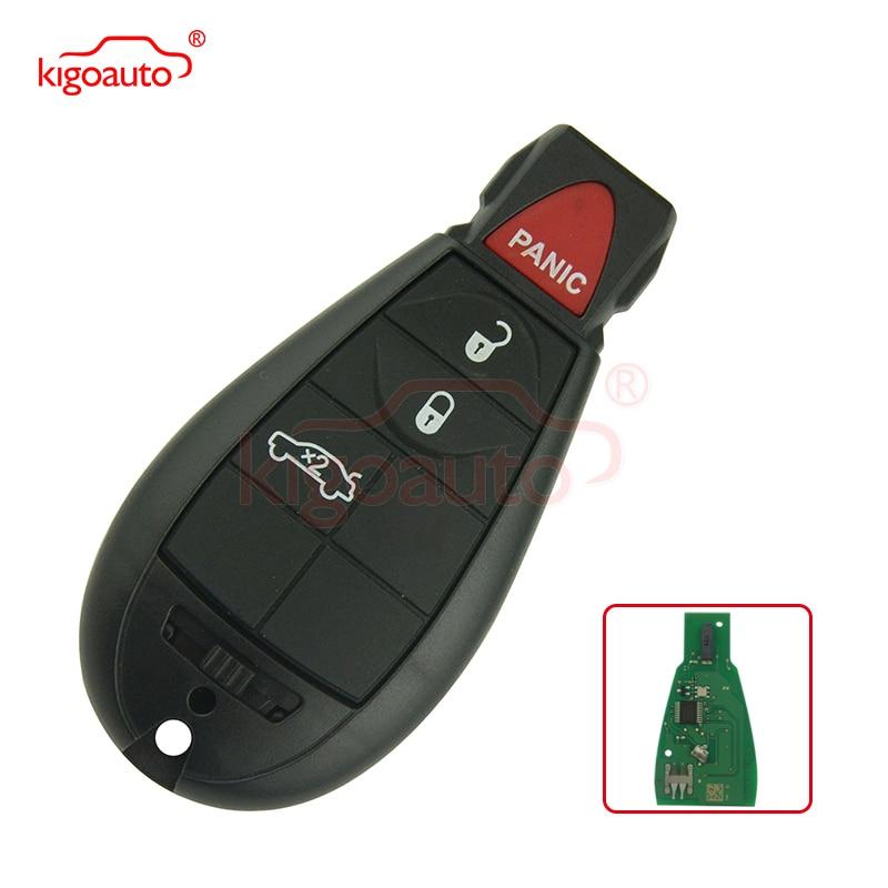 #2 fobik schlüssel 434Mhz M3N5WY783X 3 taste mit panik für Dodge RAM Reise 2009 2010 2011 kigoauto