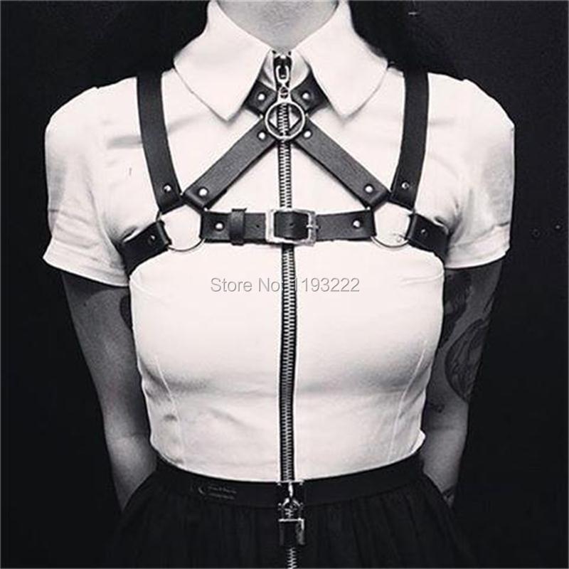 Cinturón moderno y Sexy con correa de cuero hecho a mano para mujer