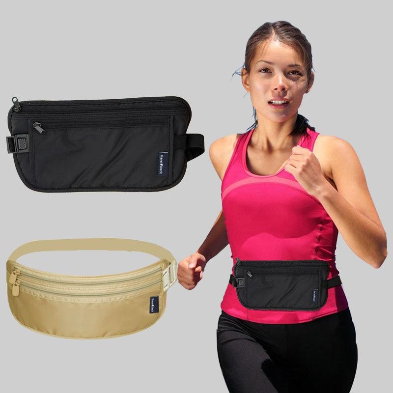 Riñonera Unisex ajustada antirrobo, funda de pasaporte y tarjetas, riñonera para mujer y hombre, bolsa de viaje impermeable
