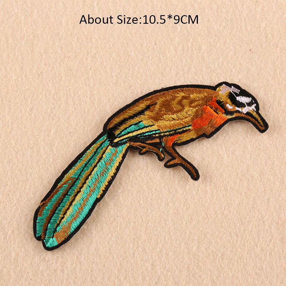 Patch de aves para o Ferro De Roupas em Tecido Bordado Remendo Sew Applique Bonito Crachá Vestuário DIY Acessórios de Vestuário