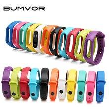 BUMVOR Fashion Bracelets For Xiaomi Mi Band 2 Sport Watch Strap Silicone Wrist Strap For Xiaomi MiBand2 Bracelet Wriststrap