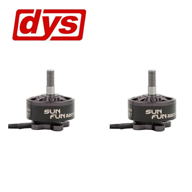 1/2 piezas DYS sol-divertido SF2207 2207 2400KV 2750KV 4-5S Motor sin escobillas CW hilo para RC FPV Racing Quadcopter DIY Accesorios