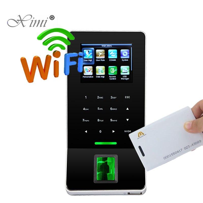 F22 биометрический отпечаток пальца посещаемость времени с 125 кГц RFID считыватель карт система контроля допуска к двери с WIFI